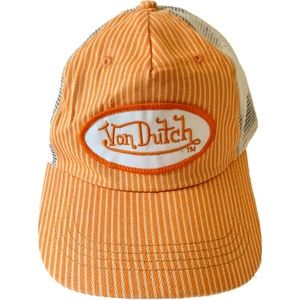 Von Dutch Trucker Hat Snapback Orange White